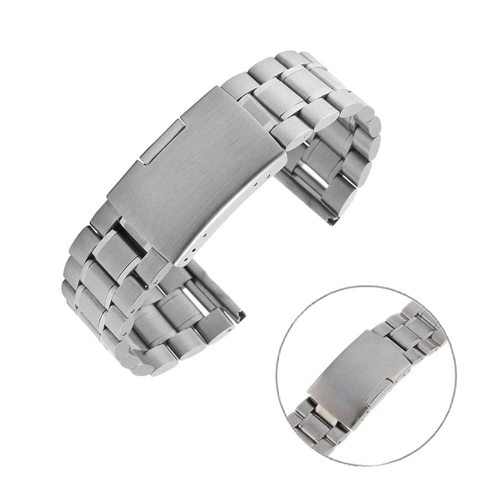 Gear S3 Classic / Frontier Watch Band , EXMART Stainless Steel Watch Band Strap Bracelet for Samsung Galaxy Gear S3 Classic / Frontier Smart Watch (Solid Silver)