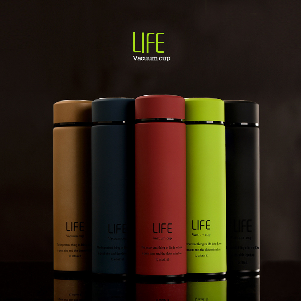 Mixed Colorful Double walled stainless steel travel reusable coffee cup custom branded with lid
