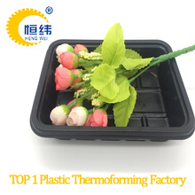 PS supermarket tray disposable plastic container for fresh fruit and vegetable use