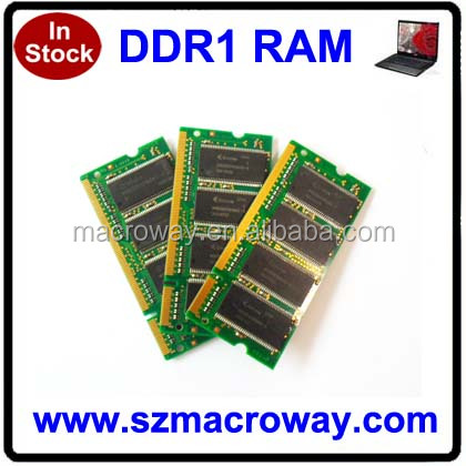 China Alibaba Supplier ddr 333 400 mhz 1gb memory ram laptop in stock