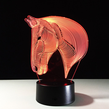 Zogift Horse Color Changing Led Night Light 3d Optical Illusion Usb