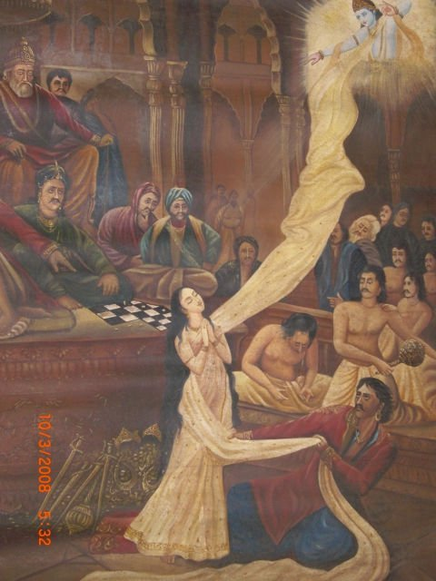 Kauravas Try to Molest Pandava Princess During the Game of Dice