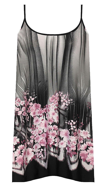 2da58469460 Suvotimo Women Summer Sleeveless Floral Print Shirt Tops Tee Beachwear Plus  Size. 7.99. Rimi Hanger Womens Trim Print Floral Swing Vest Top Ladies Plus  Size ...