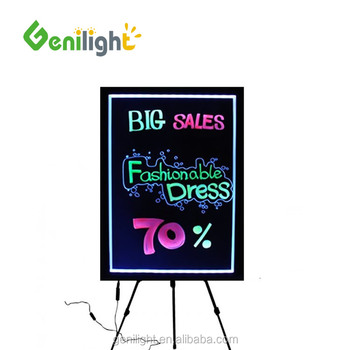 Fluorescent Marker Pens LED Writing Board Illuminated Erasable Neon LED Message Menu Sign Smd5050 40*60cm Acrylic Writing Board