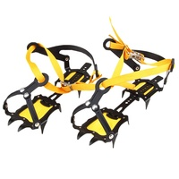 Luckstone 10 steel teeth adjustable ice climbing crampons for boots