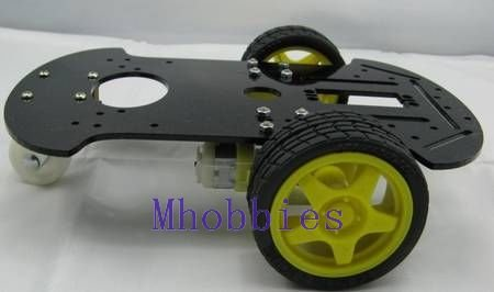 Free shipping brand New Programmable robot Mobile platform 2WD robot chassis kit