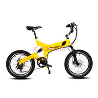 Hot Sale 2018 new style 20 inch full suspension fat folding mountain electric bike