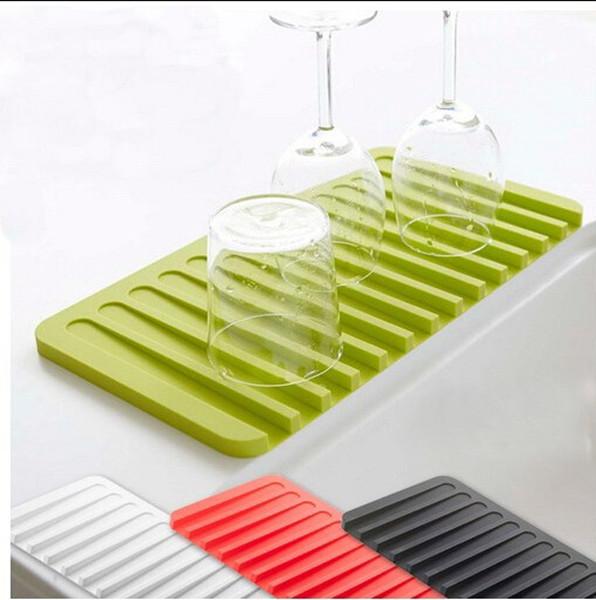Nice Dish Drying Mat Food Grade Silicone Wine Glasses