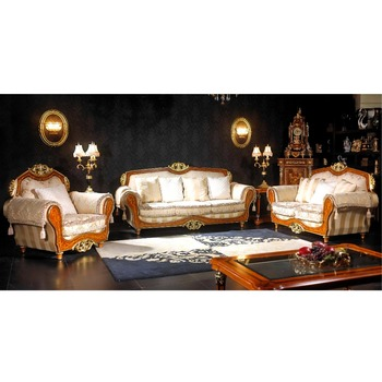 Yb50 French New Baroque Clic Sofa Set Royal Palace Hand Carved Marquetry