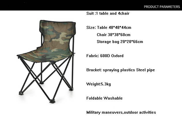 metal military camp foldable chair
