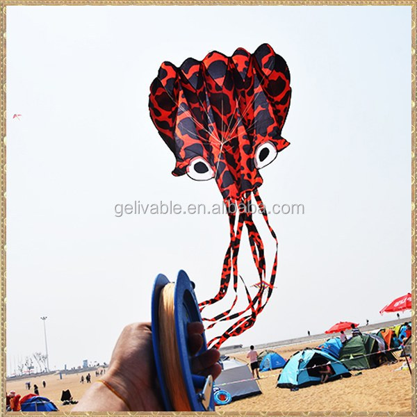 Chinese flying 3D Ripstop  kite  octopus