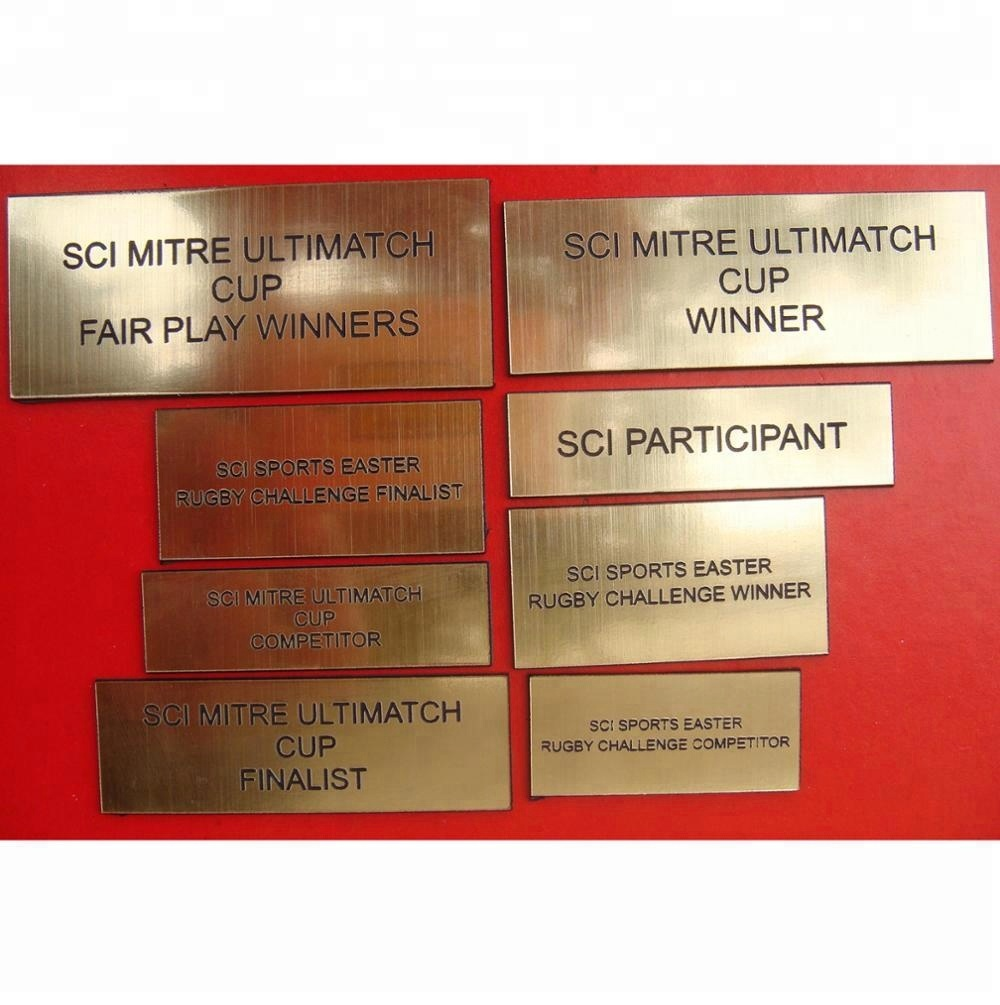 Custom Name Plates For Resin Trophy