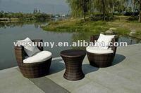 WF-023 Westlake ALum rattan Bistro Set/outdoor furniture