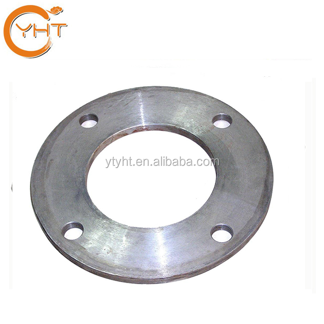 CNC machining high quality custom made cast iron / steel flange used for pipe