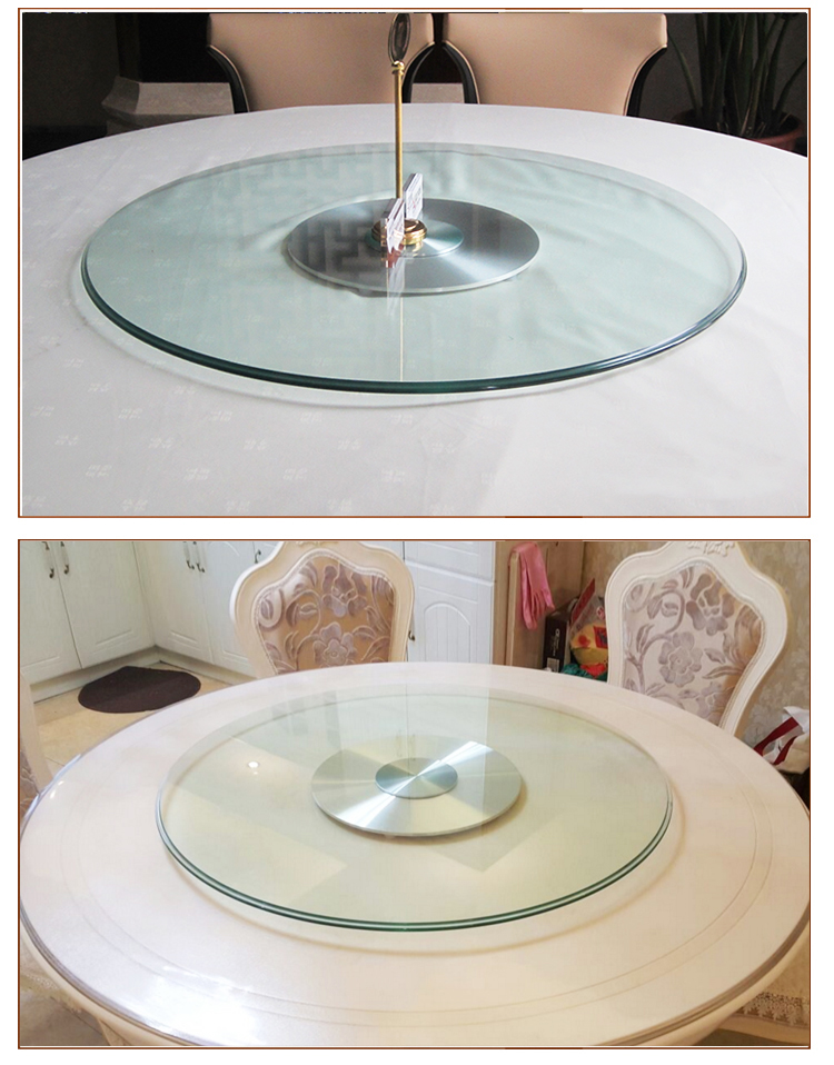 Superieur Modern Design Glass Table Top Lazy Susan Turntable