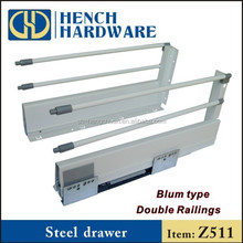 Undermount Soft Closing Drawer Slides Metal Box