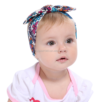 HAOXIE design baby headband hair bows for wholesale elastic band for baby silk  headband 81b9260c1ad
