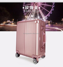 urban airport design aluminum metal frame Trolley Women Hard Case Promotion Rolling Polo Luggage