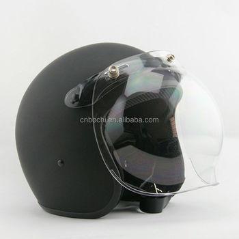 d13fc6ec Universal Bubble 3-Snap Motorcycle Visor Flip Up Face Shield Lens Helmet