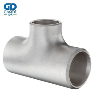 ASME ANSI B16.9 carbon steel pipe fittings BW seamless equal tee reducing tee /pipe joints /elbow/bend/cap/flange for hot sale