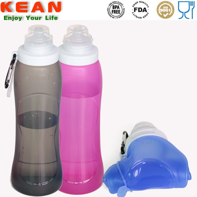 sports gear/2015 Outdoor Products New arrival 550ml silicone bottle sports gear