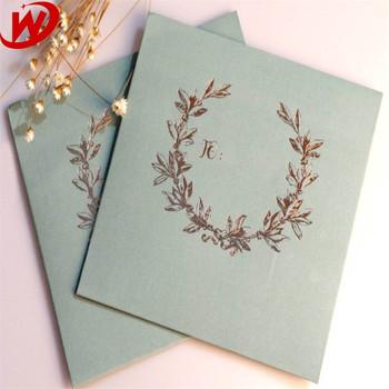 Yiwu Custom Made Dicetak Vintage Surat Undangan Pernikahan Atau
