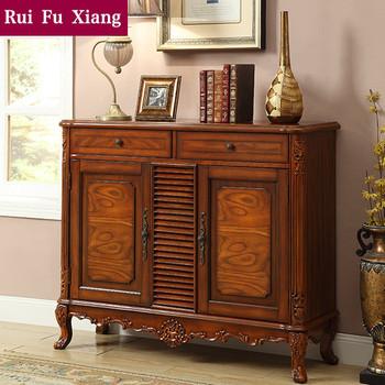 American Rustic Vintage Style Hallway Shoe Cabinet For Storage AL 201