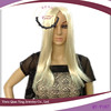 cheap long straight platinum blond synthetic party hair wigs