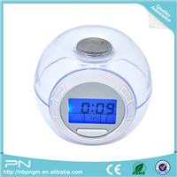 Hot Sale Decorative Table Modern Smart LED USB digital Projection Alarm Clock Projector with Weather Calendar displayed