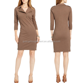 bce4eefee8 new designs trend stretch knee length brown semi formal dresses womans dress
