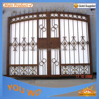 Residential Security Iron Main Gate,Iron Pipe Gate Design ...