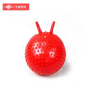 Waterproof fitness non slip plastic yoga gym red soft ball 50cm
