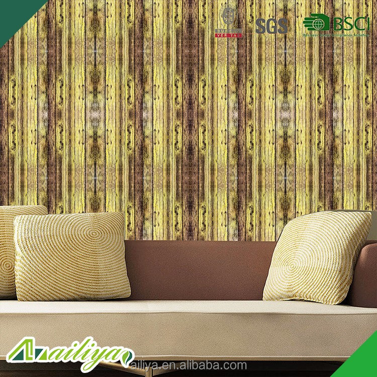 wholesale 3d wooden <strong>grain</strong> designs decorative wall and furniture self adhesive vinyl foil