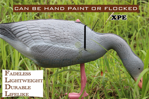 Newly design fancy XPE foam feeding goose decoys for wild hunting / gardeng decoration goose