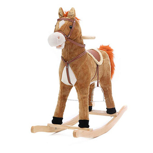 kids entertainment playful children's plush rocking horse
