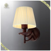 Beautiful Modern Design Hotel Wall Light Indoor Bedside Fabric Wall Light, Hotel Fabric Shade Lamp