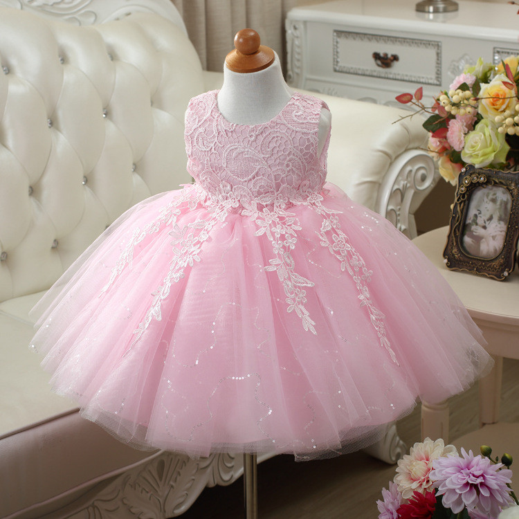 2018 latest design prom baby girl wedding dress with oem