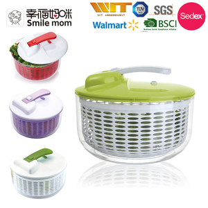 Easy to use and clean salad spinner vegetable dryer machine