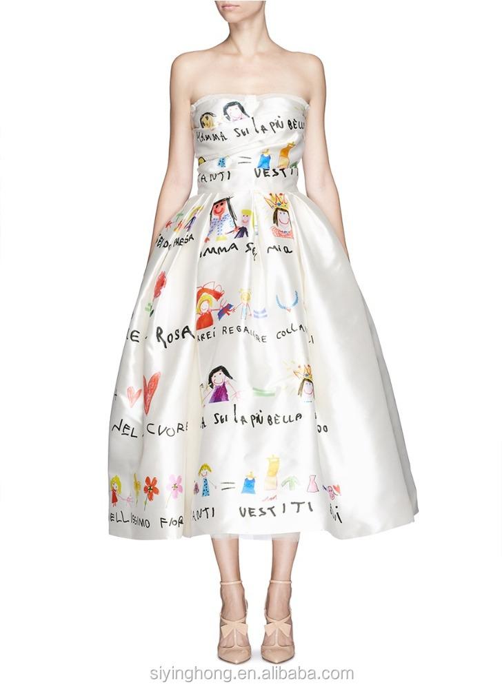 Эскизы повседневных платьев