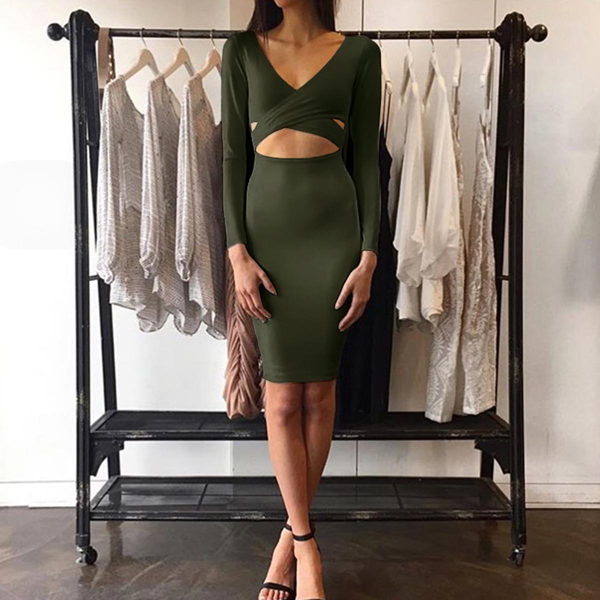 Damen Kleider Bodycon Mode Frauen Kleidung Sexy Bodycon Enge Frauen Party Kleider