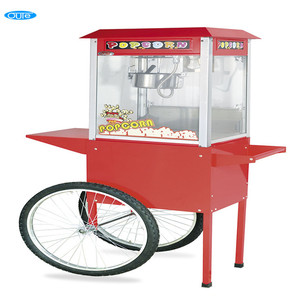 Commercial CE Approved Sweet Popcorn Machine Maker 220v With Popcorn Cart For Sale(Red Top) (OT-802-2)