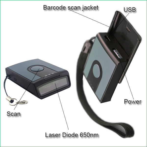 Manufacturer Wireless Laser Mini Bar code reader MS3391-L with PC, PAD android/ios smartphone