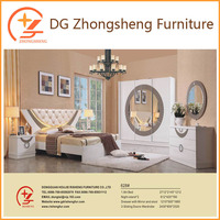 Cheap High gloss white painting bedroom furniture for hotel 628