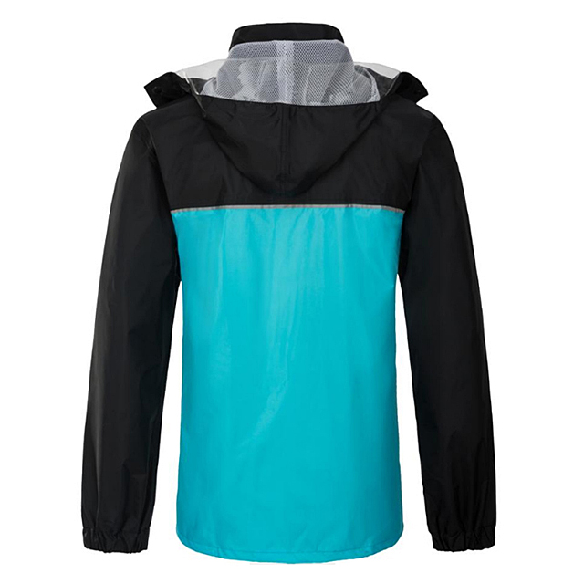 Popular Men Autumn Winter Red Colour PVC Coated Polyester Oxford For Outdoor Heavy Rain Hooded Waterproof Rain Jacket
