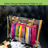 wholesale lightweight cheap pvc handbag with chain