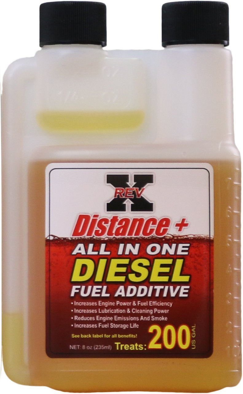 Rev-x DIS0801 Distance + Fuel Additive, 8 oz (Diesel, Treats 200 Gallons)