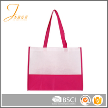 Simple and fashion non-woven single women foldable shopping shoulder bag