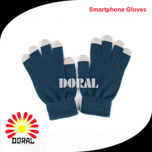 Hot Selling Soft Plain Smart Gloves Winter Touch Screen Gloves for IPhone IPad