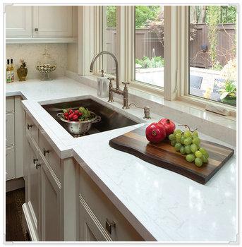 Kitchen Countertop Crystal White Quartz