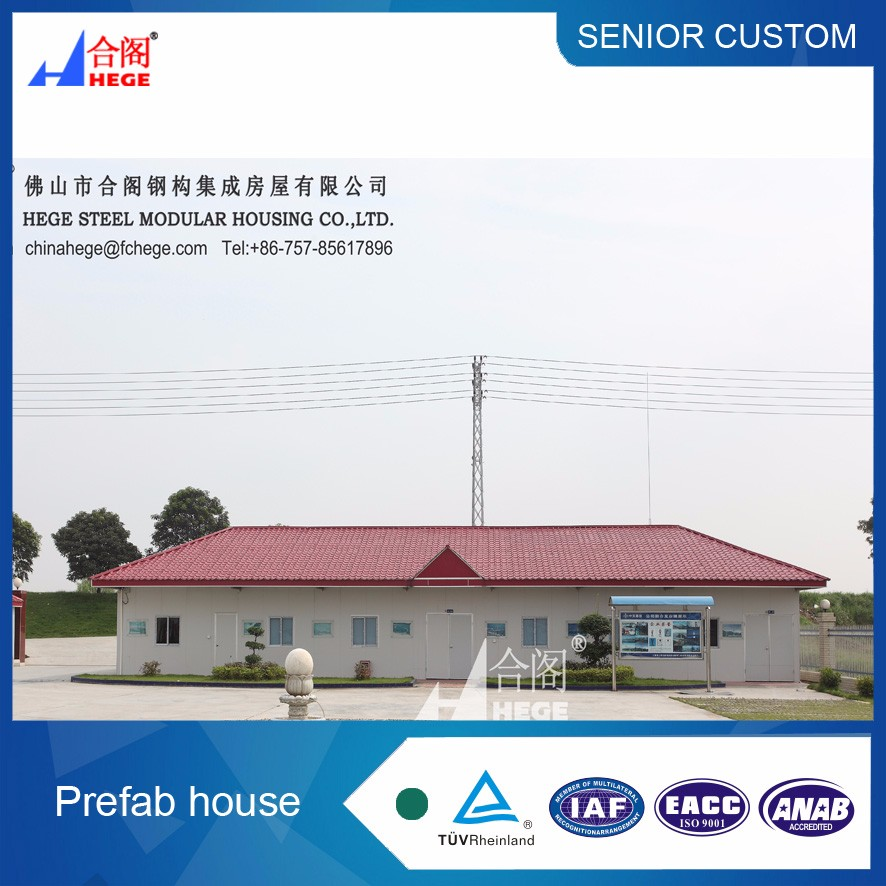 Temporality high quality camp prefab house from china